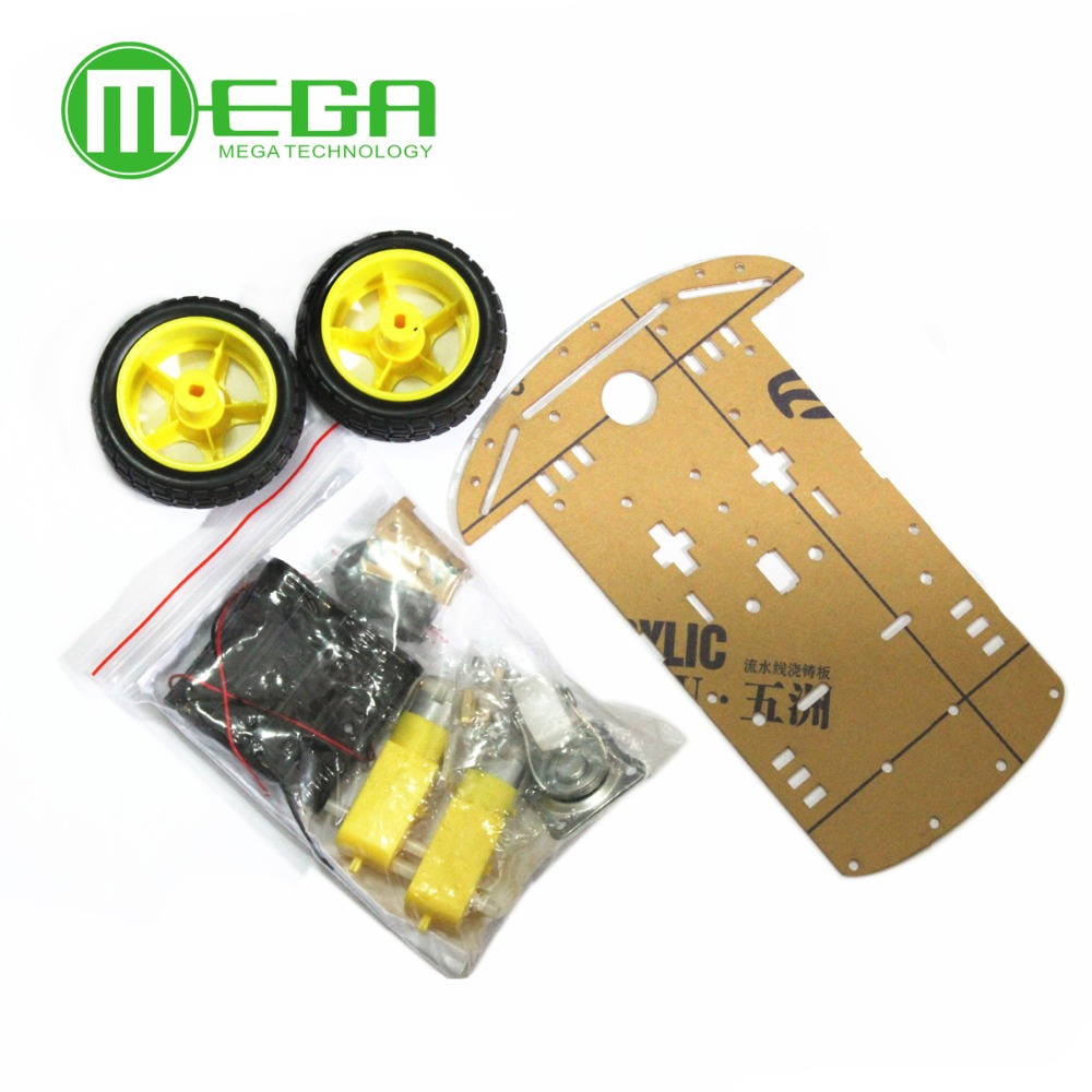 Free Shipping New Motor Smart Robot Car Chassis Kit Speed Encoder Battery