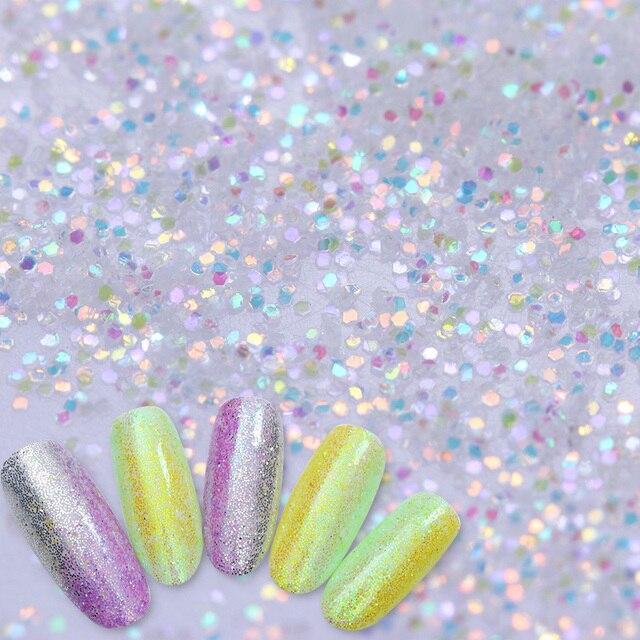 Espejo brillante sirena Brillos de uñas Polvos de maquillaje polvo ...