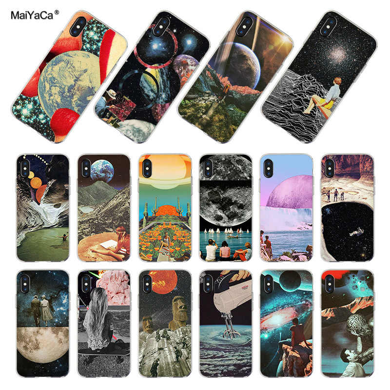 Maiyaca Trippy Art Aesthetic Space Astronaut Cases For