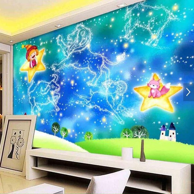 Kids Bedroom Wallpapers Carton Abstract Murals For Living Room Wall Papers  Home Decor 3d Wall Murals Wallpaper