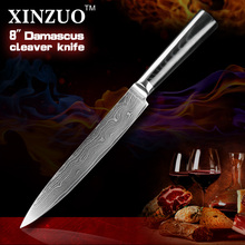 8″ inch cleaver knife Japanese VG10 Damascus steel 8″ kitchen knives slicing/Carving knife with Forged G10 handle FREE SHIPPING