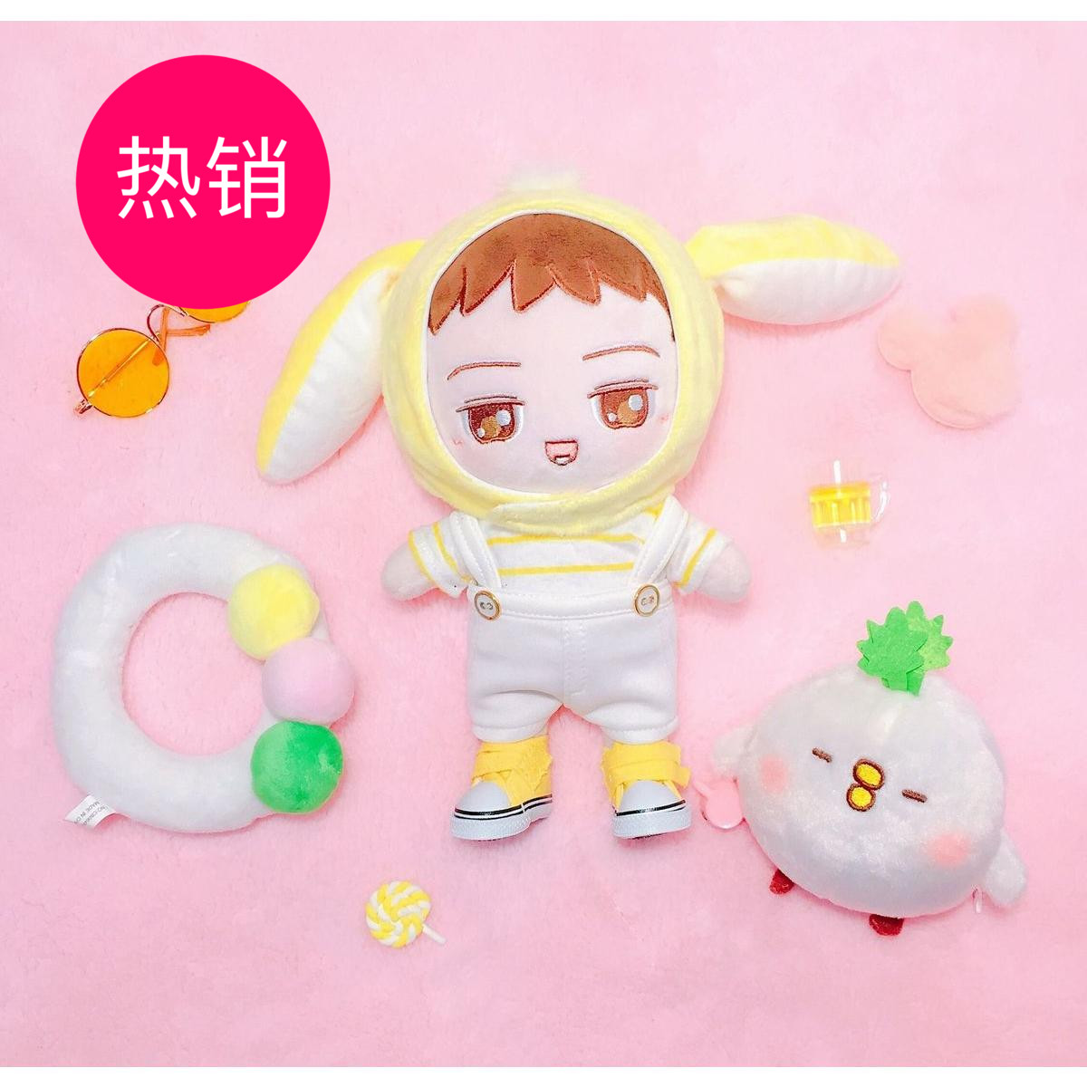 [MYKPOP]EXO KPOP Doll Accessories Big Ears Bonnets for 20cm Dolls KPOP Fans Collection SA18070403