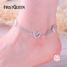 FirstQueen 100% Sterling Silver 925 Anklet High Quality AAA  Cubic Zirconia Best Gift For Women Casual DIY Fine Jewelry