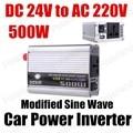Frete grátis porta USB transformador de tensão de carro Automático de Potência Do Inversor Conversor 24 V DC para AC 220 V 500 W modificado Onda Senoidal