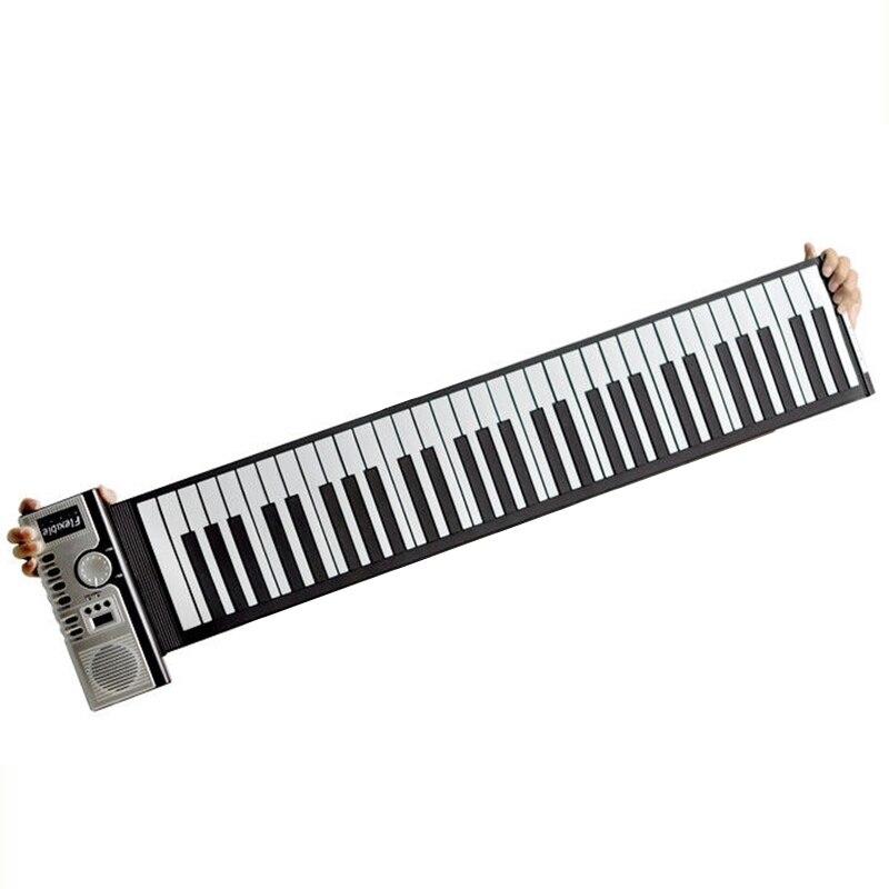 Portable Roll Up 61 Touches Souple Électronique Numérique Clavier Piano Instrument de Musique