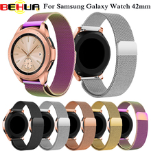 20mm Stainless steel band For Samsung Galaxy Watch 42MM Milanese loop  magnetic buckle Replacement watch strap wrist watchband milanese loop watchband 20mm 22mm for samsung galaxy watch 42mm 46mm r810 r800 magnet band stainless steel strap wrist bracelet