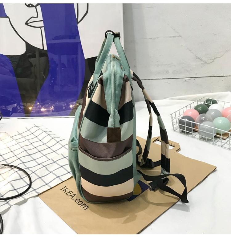 HTB1OXQXUgHqK1RjSZFPq6AwapXaP 2019 Korean Style Women Backpack Canvas Travel Bag Mini Shoulder Bag For Teenage Girl School Bag Bagpack Rucksack Knapsack