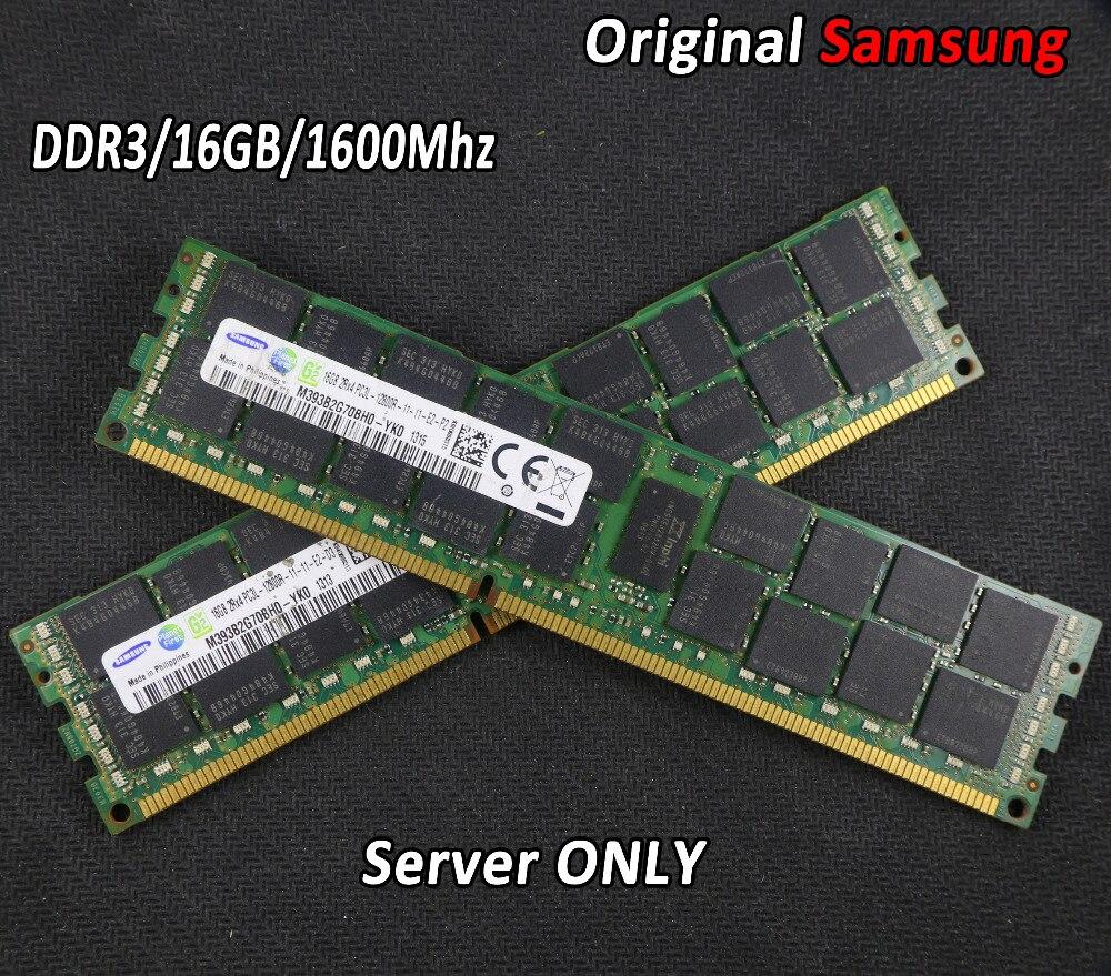 Original Samsung 16 GB DDR3 1333 MHz 1600 Mhz 16G 1333 ECC REG servidor trabalho memória RAM 16 gb 24 gb 16g 24g 32 gb 32g Garantia Vitalícia