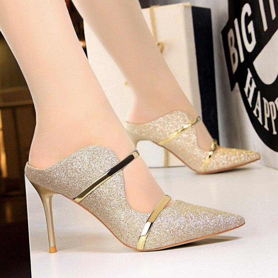 525151395fe US $20.24 27% OFF|2018 women high heels prom wedding shoes lady crystal  platforms rhinestone bridal shoes party diamond high heel-in Women's Pumps  ...
