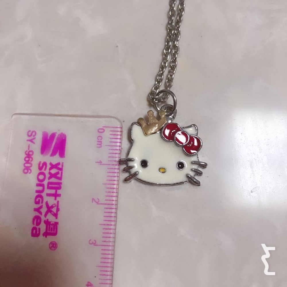 dd0a99ee63337 2019 Siywina Girls Jewelry Fashion Crystal Hello Kitty Necklace WOMEN  Pendant Necklaces Rhinestone Statement Necklace Red Color