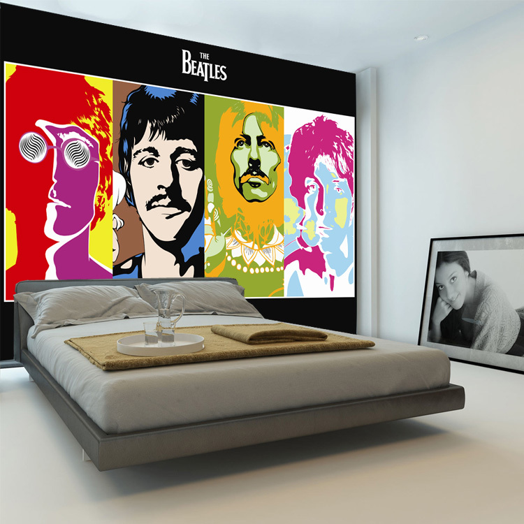 Awesome The Beatles Photo Wallpaper Music Band Wallpaper 3D Classic Wall Mural  Bedroom Pop Art Boys Kids Room Decor Home Decoration In Wallpapers From  Home ... Part 10