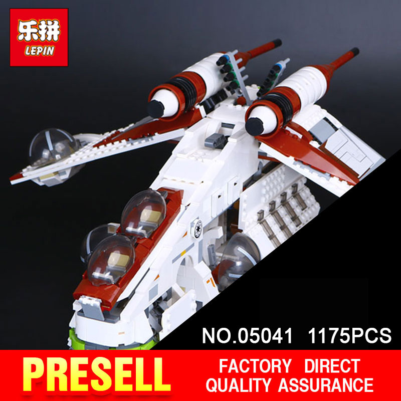 LEPIN 05041 Star model 1175pcs Wars Coruscant Police Gunship Compatible 75021 Building Blocks Bricks toy Model to Boys Gift star wars boys black