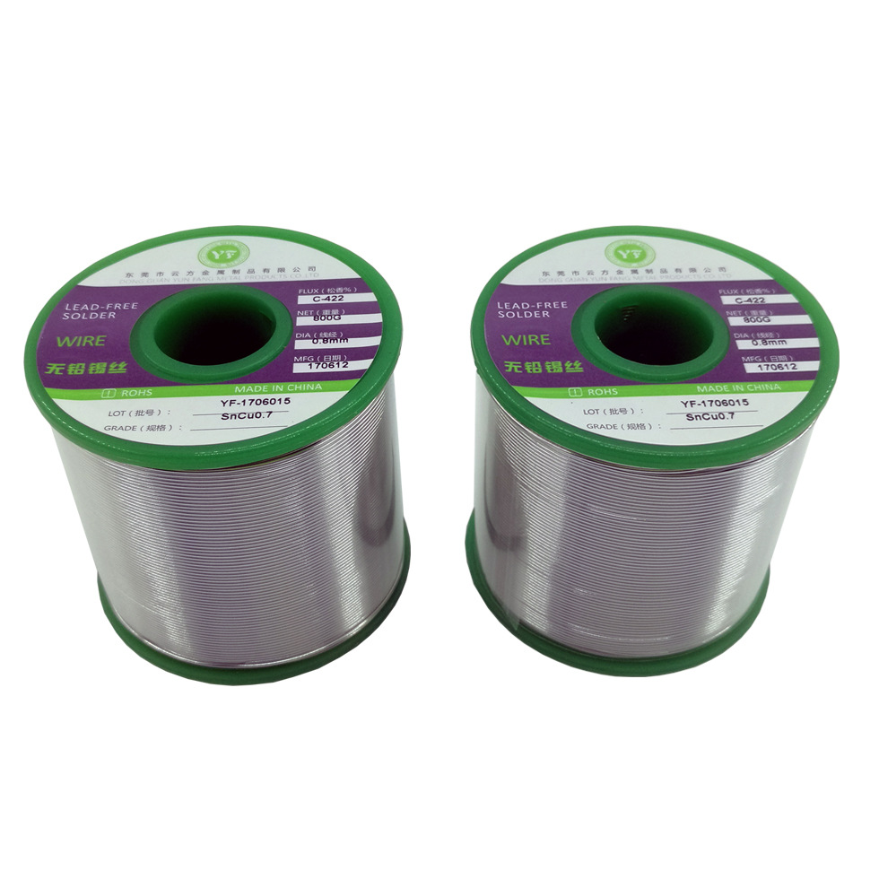 1kg Lead Free Solder Wire Health Sn:99% Ag:0.3% Cu:0.7% Tin Wire Melt Rosin Core silver-containing solder wire