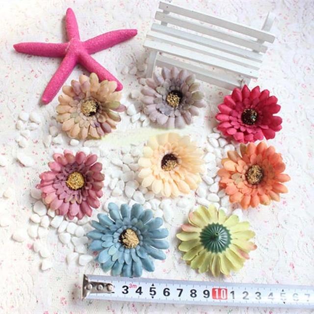 6cm Headsmall Silk Sunflowers Heads Artificial Fake Gerbera Daisy