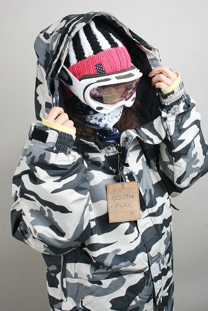 New Premium Southplay Winter Waterproof 10,000mm Skiing Snowboard (White Military Jacket OR Denim Pants) white denim white denim stiff lp cd