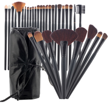 KMS Women's 32 pcs/kits Make Up Brush Set Professional Cosmetic Face & Eye Styling Tools Powder Makeup Brushes + Bag maquiagem