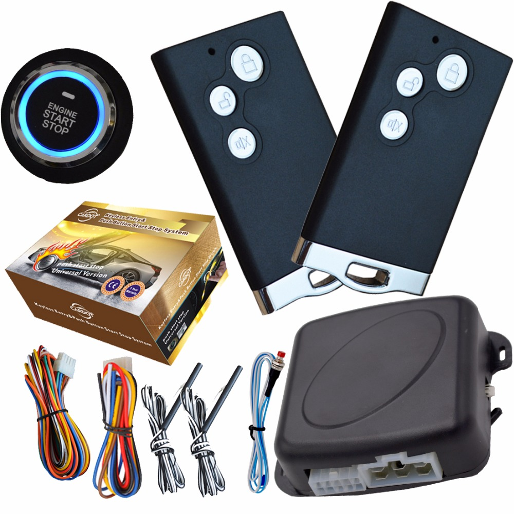 smart rfid pke passive car security alarm system with 2pcs smart key remote auto start stop engine button car system alarm remote engine start car alarm system pke car alarm rfid smart key lock or unlock automatically remote start push start button