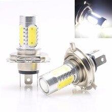 Krator 2 pcs H4 9003 HB2 COB 7.5 w de Alta Potência Lâmpada LED Carro Motocicleta Farol Baixo Feixe de Luz de Nevoeiro luz
