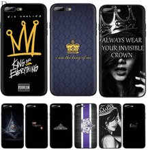 Black Soft Tpu Case Queen Boss Crown King Cover For iPhone 11 Pro 5 5s SE 6 6s 7 8 Plus X XS XR Max Shell(China)
