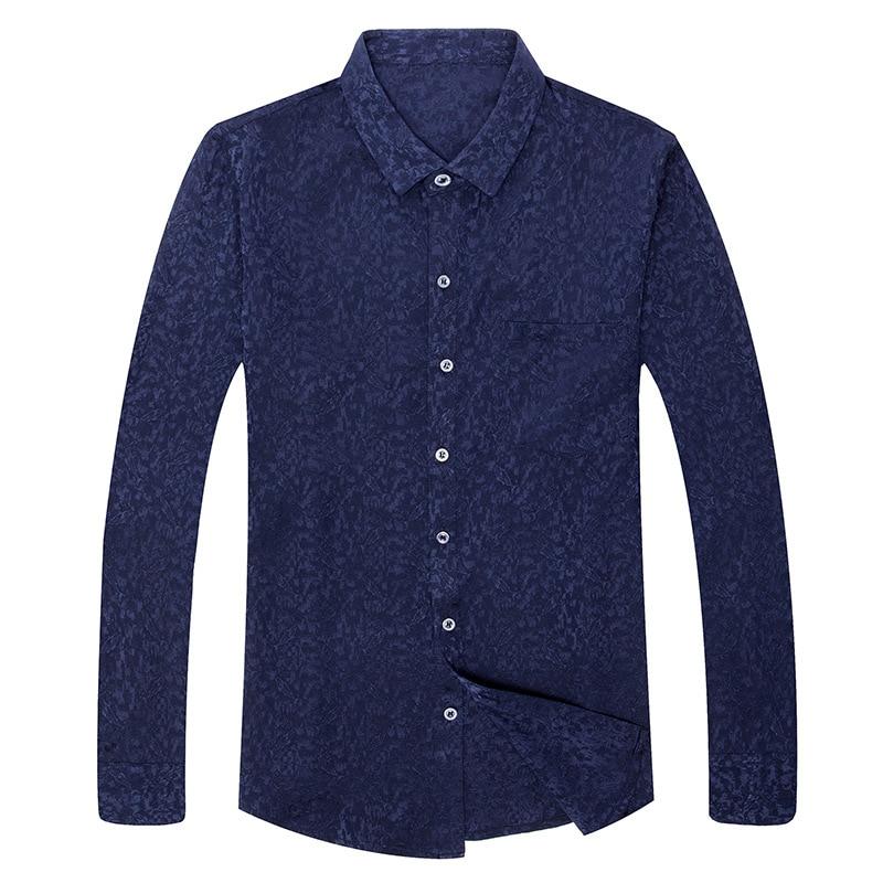 92% Zijde Lange Mouwen Mannen Losse Zijden Shirt Business Leisure Dunne - 5