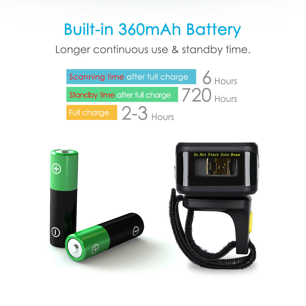 Портативті 1D штрих-кодты сканер Bluetooth - Кеңсе электроника - фото 5