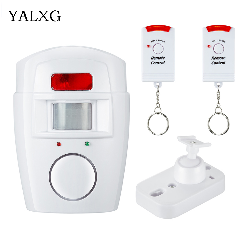 Yalxg Security Alarm System PIR MP Alert Infrared Sensor Anti-theft Motion Detector Alarm Monitor Wireless Alarm Detector Kit