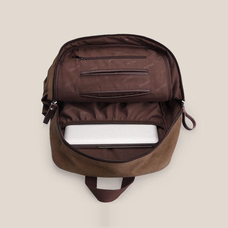 Hommes décontracté Preppy Style plaine sac d'école à la mode Simple toile sac à dos hommes mode solide couleur ordinateur portable voyage sac à dos - 4