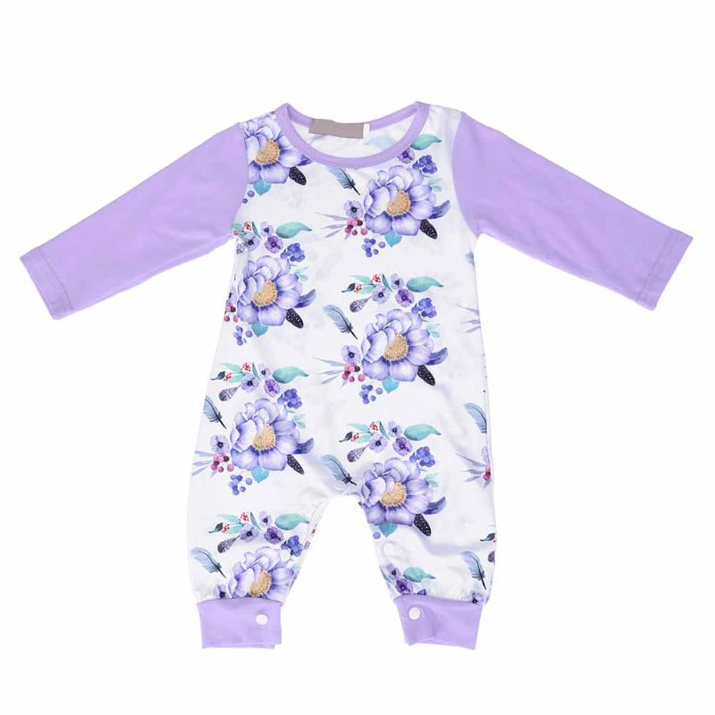 Baby Overall Girl Autumn Floral Clothes Newborn Full Sleeve Cotton Romper Toddler Casual Flower Jumpsuit