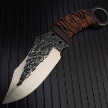 גבוהה פחמן פלדה קבוע להב חיתוך סכין לחיצוני קמפינג & ציד צבאי טקטי הישרדות סכיני עם עור נדן