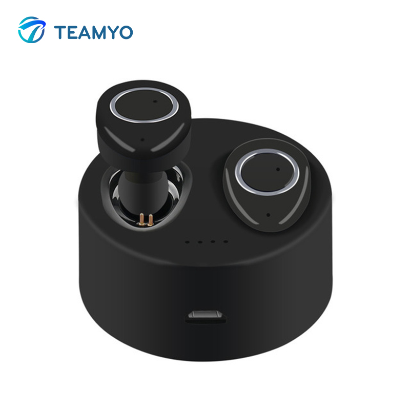 Teamyo TWS Wireless Earbuds Headphones Bluetooth in ear headphones Mini Stereo With Microphone Charge Box For xiaomi iPhone