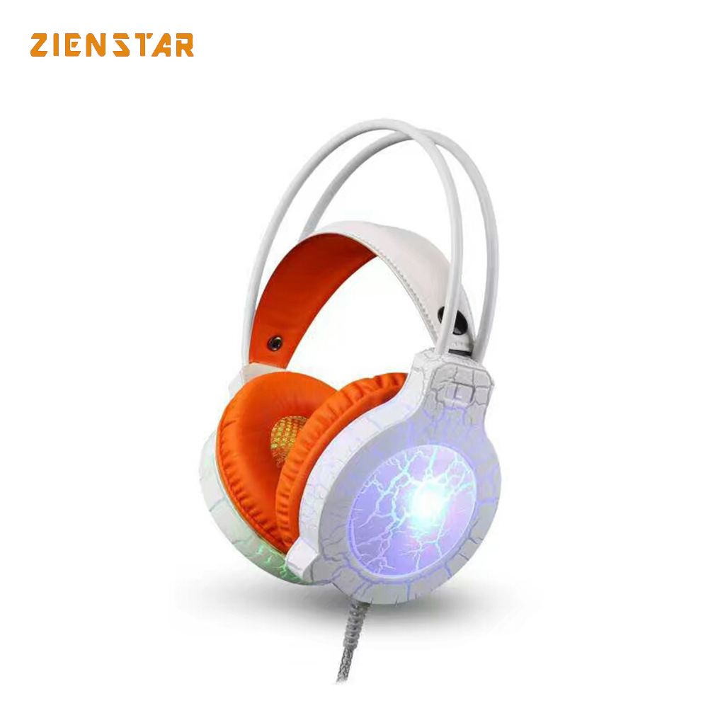 Zienstar Stereo Gaming Headset Deep Bass Computer Game Headphones Wired with Mic and LED Light for Xbox One PS4 Laptop PC Gamer