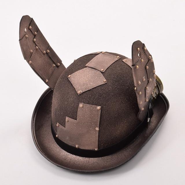Стимпанк шляпа с очками и ушами 4