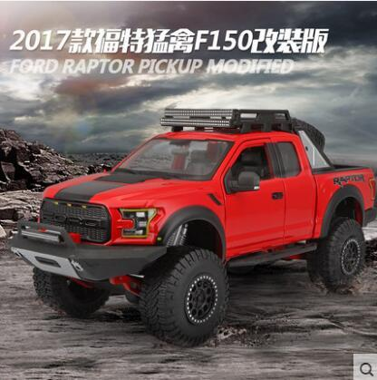 New Maisto FORD F150 Pickup Raptor 1:24 car model alloy original Modified version kids Toy collection SUV Off-road Truck gift