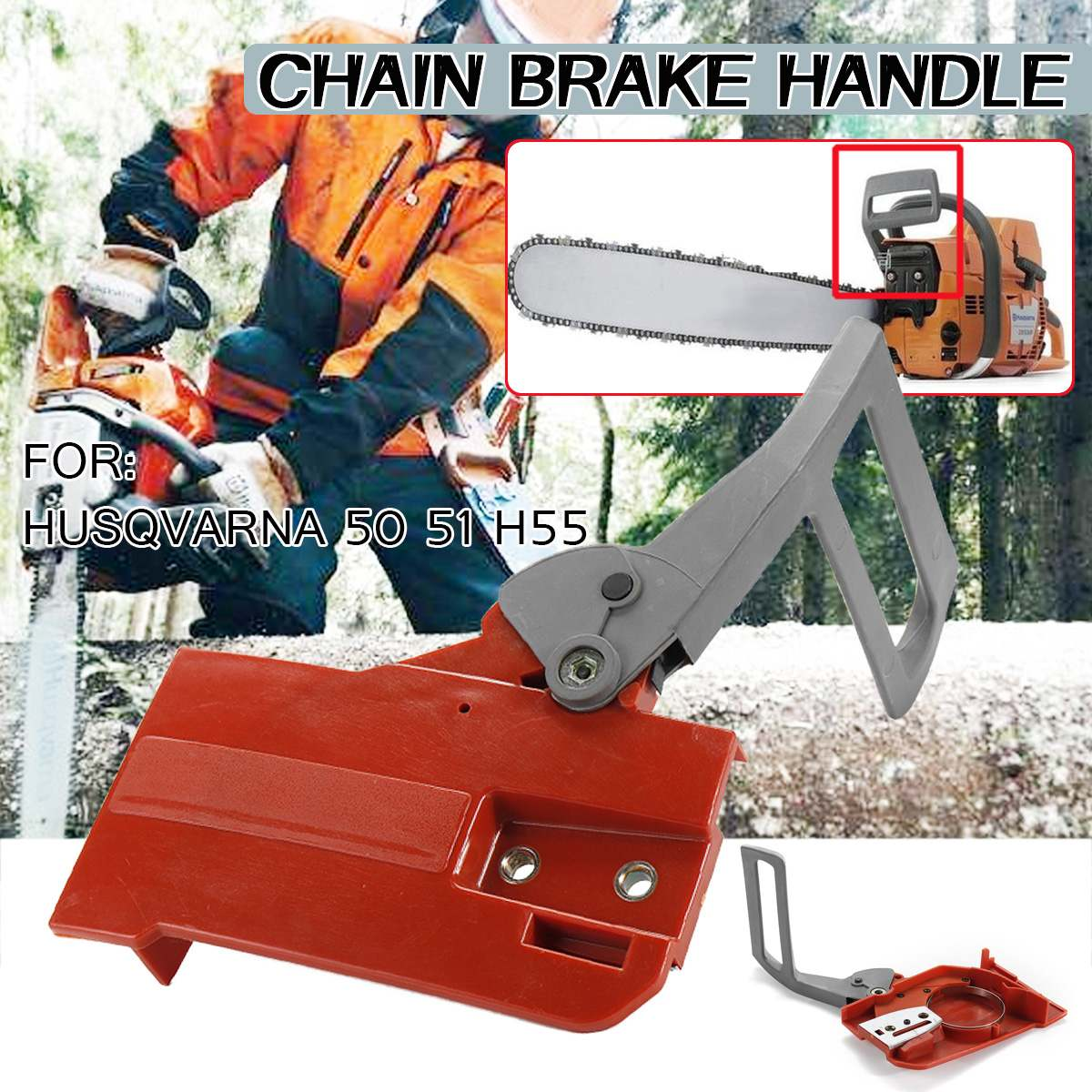 Chainsaw China Brake Handle Brake Cover Assy For Husqvarna 50 51 H55 Chain Saw Replacement Accessories