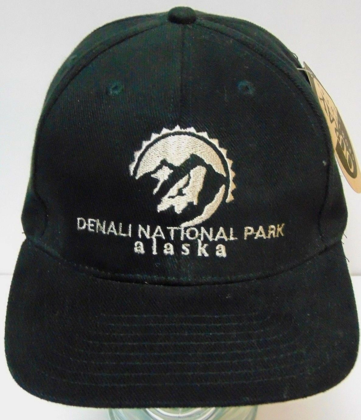 New Tags DENALI NATIONAL PARK ALASKA NATURE SOUVENIR Black ADJUSTABLE HAT   BASEBALL     CAP