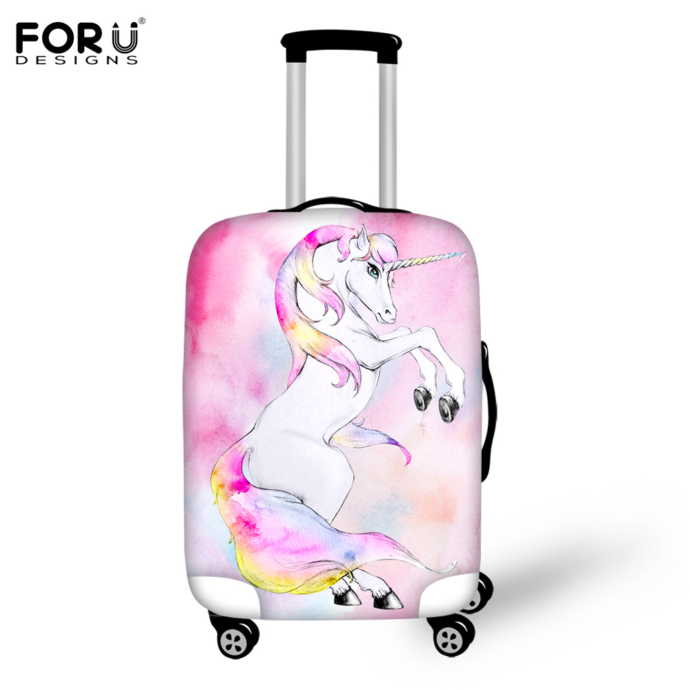 FORUDESIGNS 2018 HOT SALE Horse Printed Women Travel Luggage Cover Protector Suitcase Cover for 18-30 Inch Trolley Case Cover ...