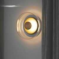 Postmodern Italia Design di Lusso Dorato 7W Ciotola Ombra Ha Condotto La Lampada Da Comodino Lampada Da Parete Camera Da Letto Soggiorno Sfondo Applique Da Parete Applique