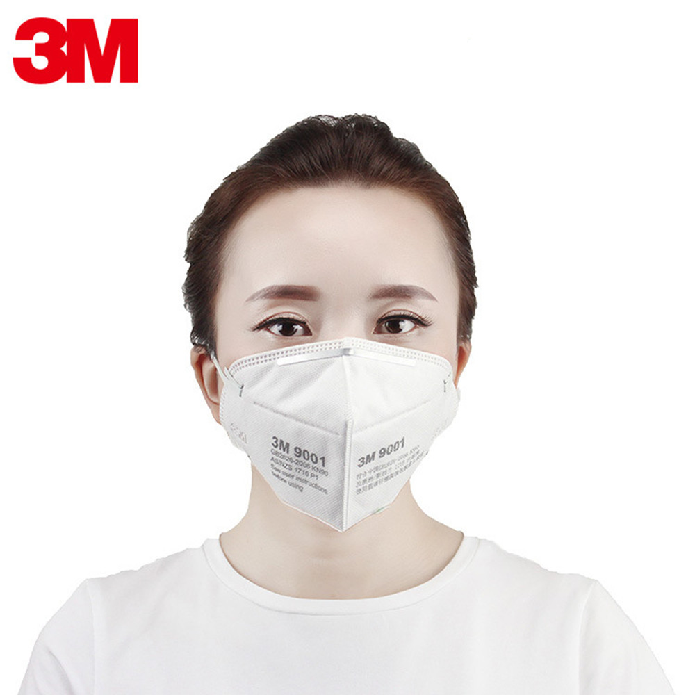 1Pcs 3M 9001 KN90 Dust Masks Respirator Anti-dust PM2.5 Industrial Construction Pollen Haze Gas Family & Pro Site Protection airborne pollen allergy