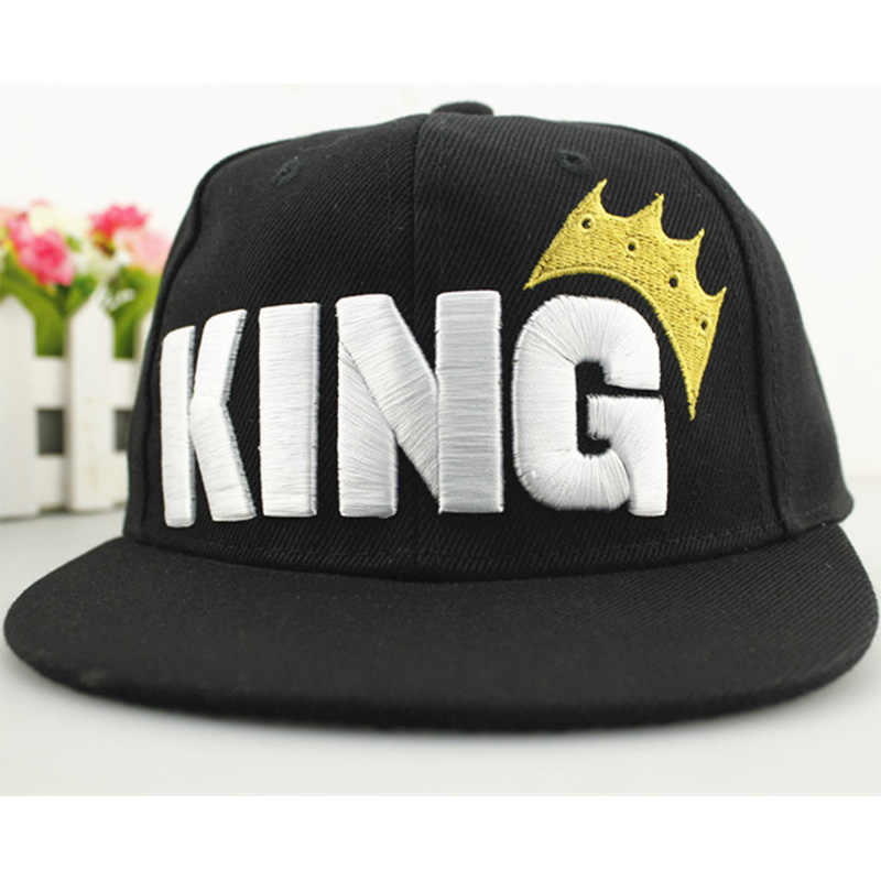 Embroid King Crown Parent-child Dress Baseball Caps Four Seasons Applicable Baseball Hat For Kids Boys Girls Comfortable Texture
