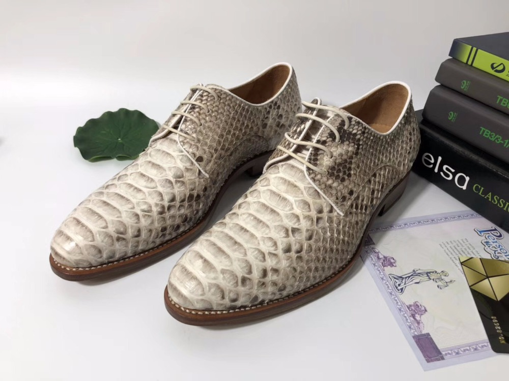 2018 Genuine real genuine python skin men shoe, top quality snake skin business men shoe with Personal Customized services beige 2018 genuine real genuine python skin men shoe top quality snake skin handmade men shoe black blue color free shipping