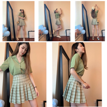 Women Pleat Skirt Harajuku Preppy Style Plaid Skirts Mini Cute Japanese School Uniforms Ladies Jupe Kawaii Skirt Saia Faldas