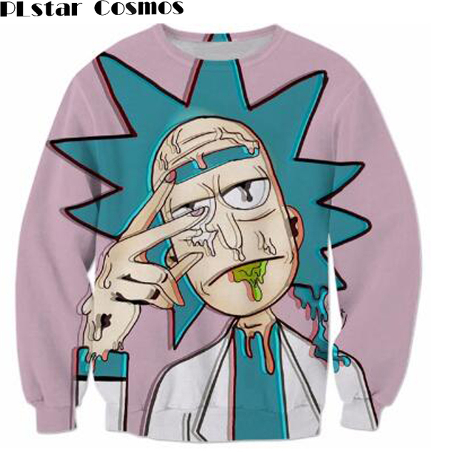 PLstar Cosmos Dessin Animé de mode Rick et Morty Shirts