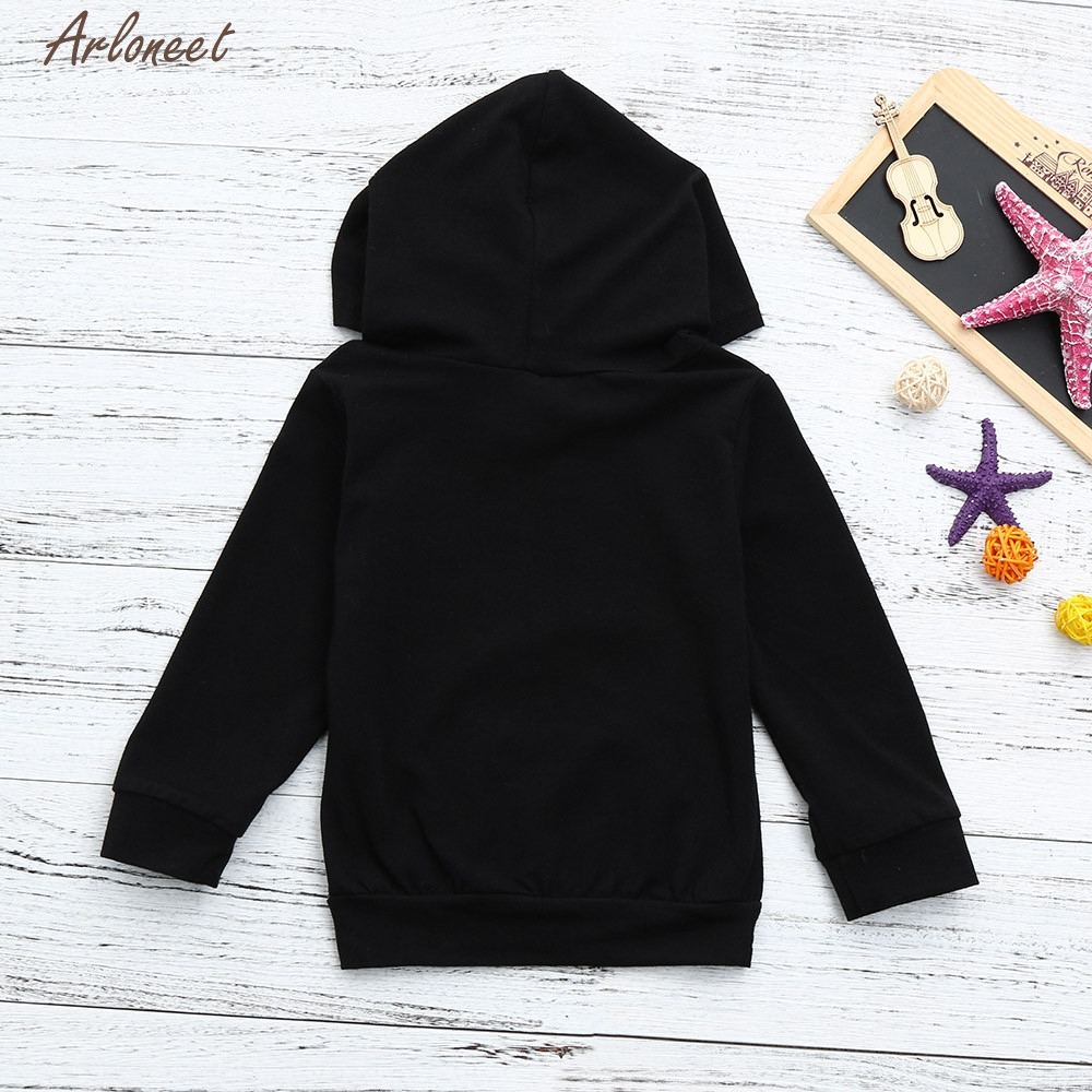 TELOTUNY Baby Clothes Cotton Toddler Baby Boys Girls Hooded Sweatshirts Infant Letter Blouse Hoodies Tops      Y120830 1