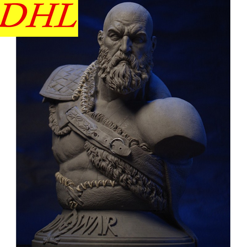 27.6CM New God of War 4 Kratos Spartans 1/3 Bust GK Griseofulvin Ghost Of Sparta Action Figure Ares Collectible Model Toy L1610 god of war 2 pvc action figure display toy doll kratos in ares armor with blades