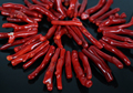 "15.5""strand Natural Red Bamboo Coral Branch Top Drilled Beads,Coral Long Pikes Tribal Necklace Beads Jewelry Supplies"
