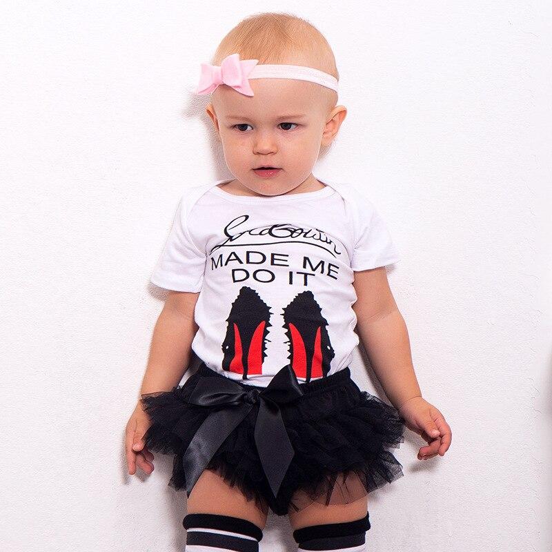0-18M Baby Girls Cartoon Clothes Set Summer Kids Short Sleeve Tops+tutu Skirts Shorts Outfits