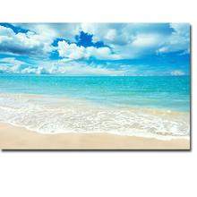 Tropical Beach Sea Sky Nature Art Poster