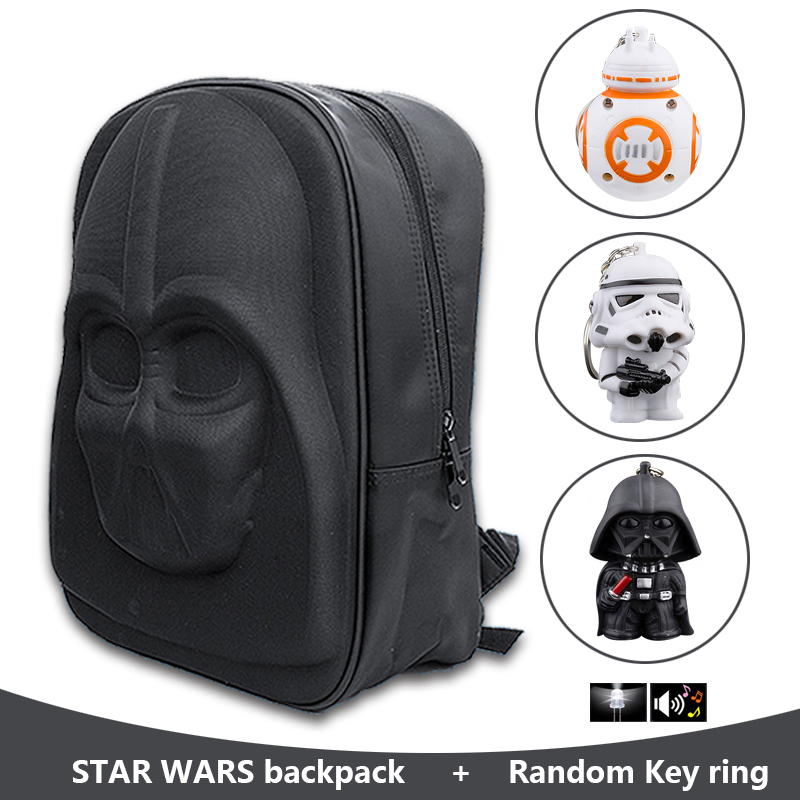 Star Wars Action Figure Darth Vader Backpack Nylon+PU Double Shoulder Bag for Teenager Boys Book Bag Men's Student School Bag nylon double shoulder bag backpack