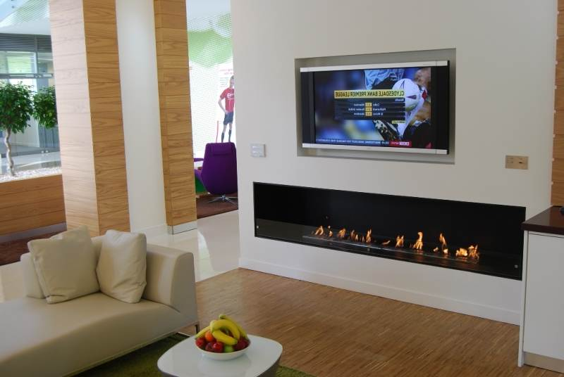 60 Inch Remote Control  Silver Or Black Ethanol Wall Mount Electric Fireplace