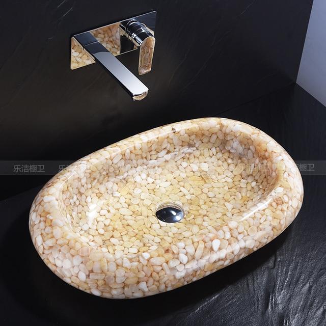 Marmor Waschbecken natürliche jade plattform becken marmor waschbecken transparent